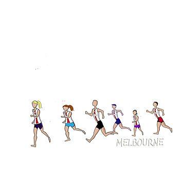 Melbourne Flinders Street Running Range linework by jase72