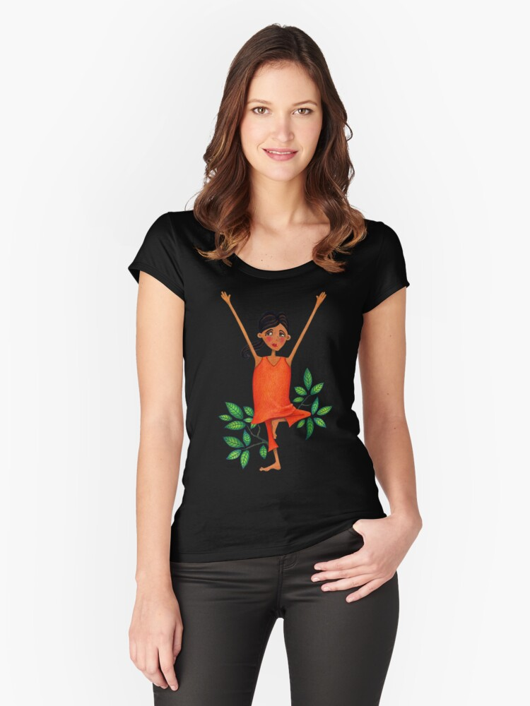 Tree Women's Fitted Scoop T-Shirt Front
