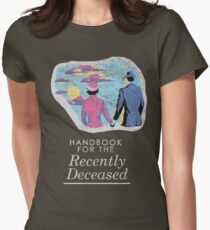 Handbook for the Recently Deceased - Dark Women's Fitted T-Shirt