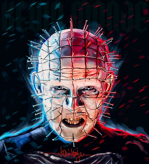 pinhead hellraiser posters by kevinart redbubble