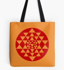 Sri Yantra Orange Tote Bag