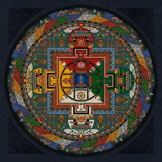 Mandala von Yamantaka von Deanna Gardam