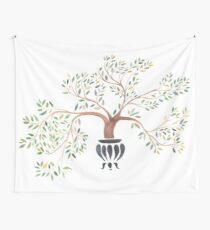 Azalea Bonsai Wall Tapestry