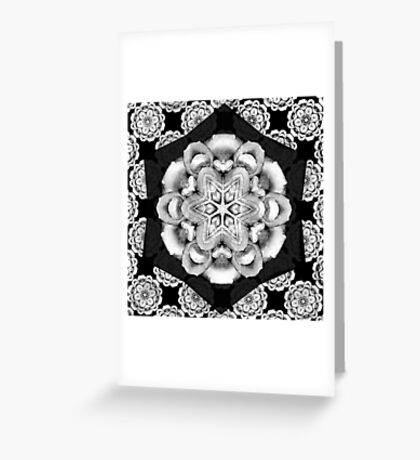 old fashioned lace pattern  Greeting Card