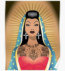 Chola Guadalupe Poster