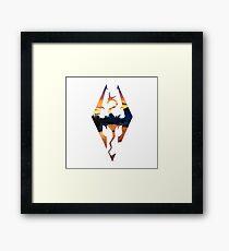 Skyrim Logo - Sunset Version Framed Print