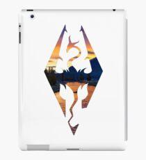 Skyrim Logo - Sunset Version iPad Case/Skin