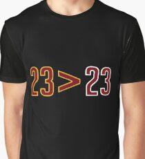 Lebron James Greater Than Michael Jordan Merchandise Graphic T-Shirt