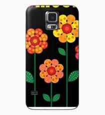 Dia De los Muertos skull flowers Case/Skin for Samsung Galaxy