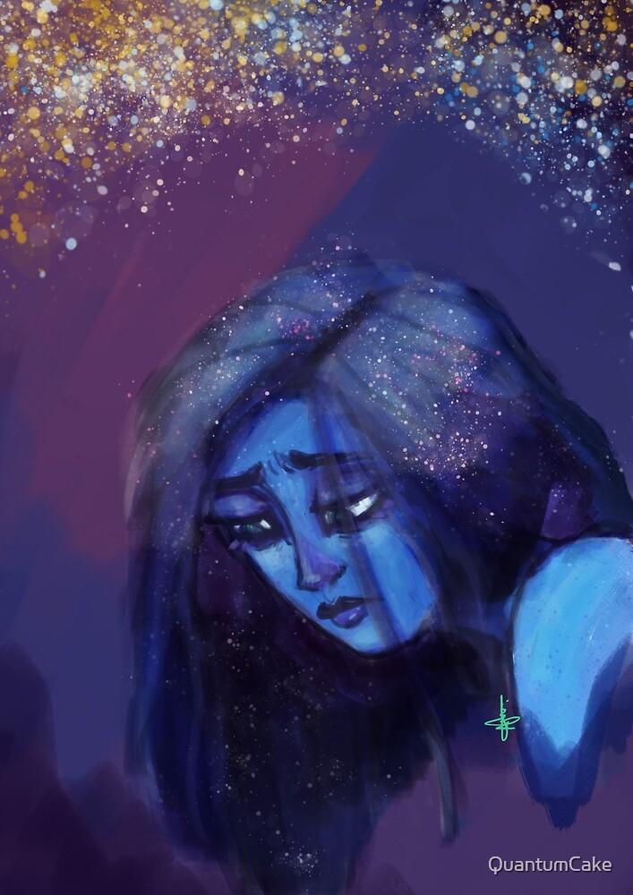 The Sad Blue Girl by QuantumCake