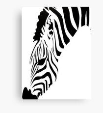 Grazing Zebra Vector Isolated On White Canvas Print