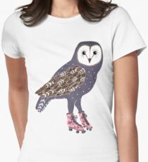 I skate OWL night long Women's Fitted T-Shirt