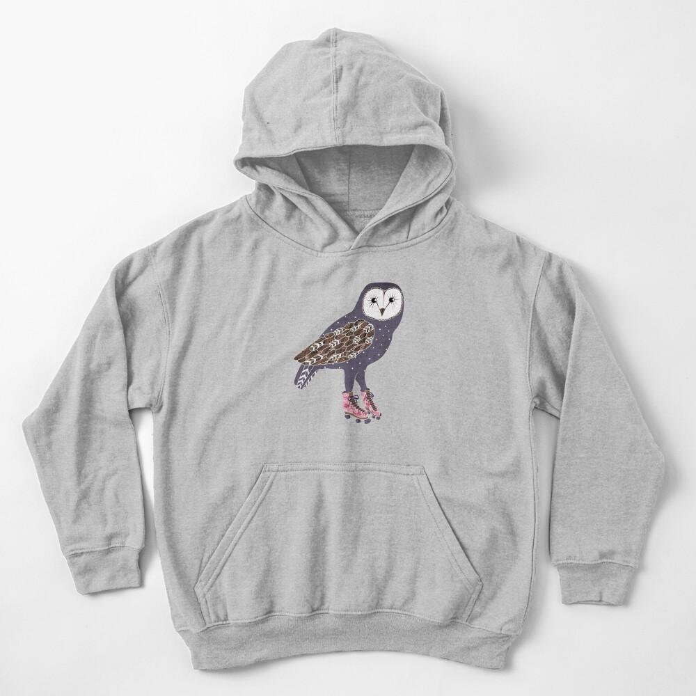 Ich skate OWL Nacht lang Kinder Hoodie