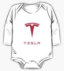 Body de manga larga Logotipo de Tesla Motors Inc