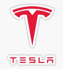 Tesla Motors Inc Logo Tshirt Sticker