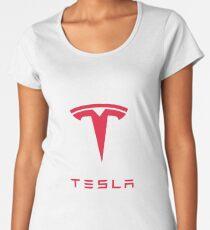 Tesla Motors Inc Logo Women's Premium T-Shirt
