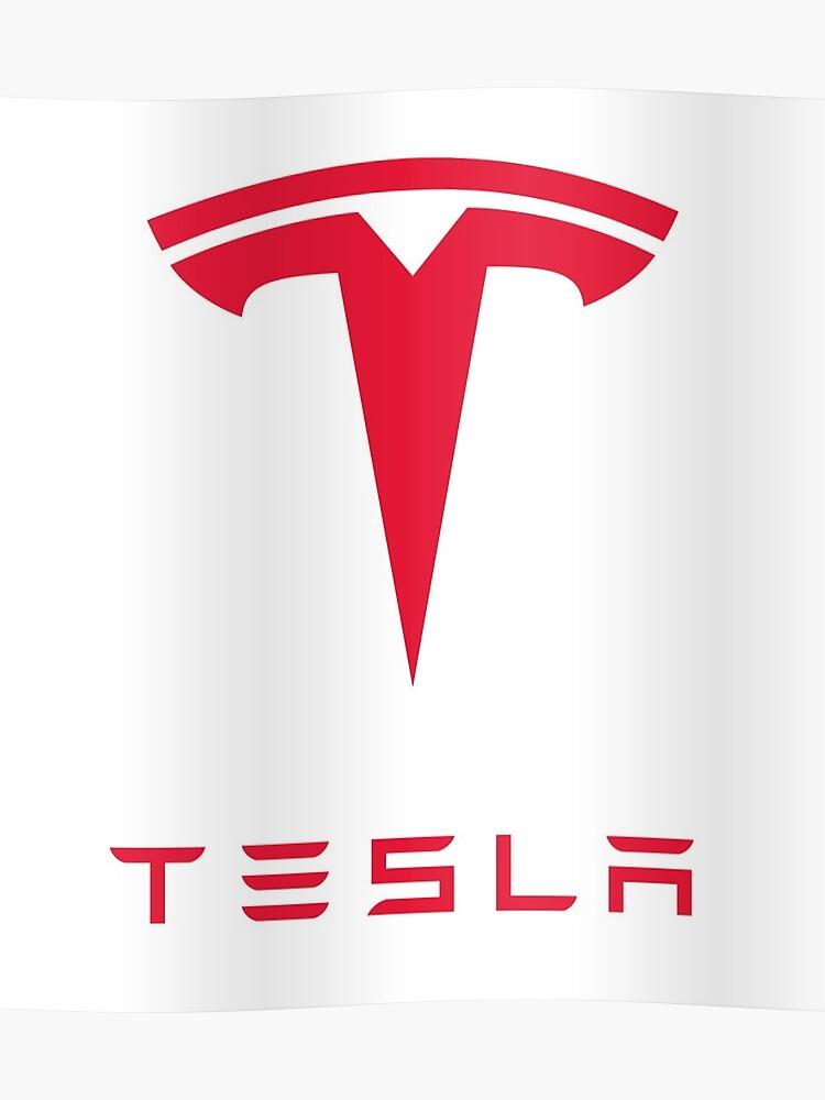 Tesla Motors Inc Logo | Poster