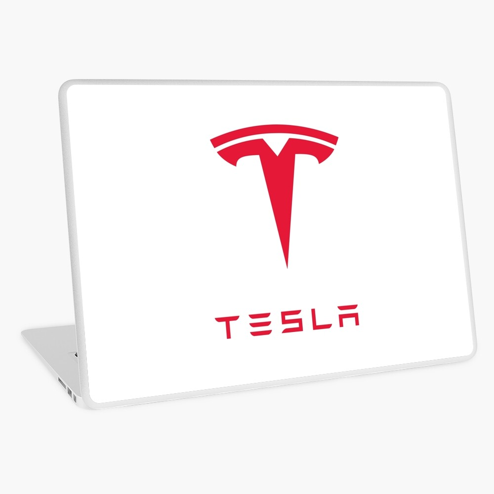 Tesla Motors Inc. Logo Laptop Folie