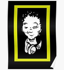 Del the Funky Homosapien - No Need For Alarm cartoon head replica shirt Poster