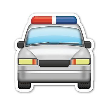 Police Car Emoji Cops Heroes America Soldier Emergency by stevesemojis