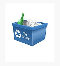 Recycling Bin Logo | Symbol | Ecology Friendly | Environment Photographic Print