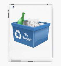 Recycling Bin Logo | Symbol | Ecology Friendly | Environment iPad Case/Skin