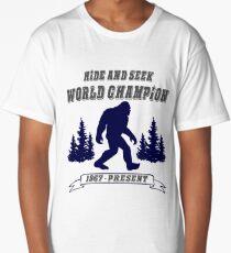 Bigfoot Hide and Seek - World Champion - Sasquatch- Yeti Long T-Shirt