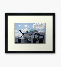 A P-51D Mustang parked on the flight line. Framed Print