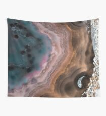 Multi colored agate slice Wall Tapestry