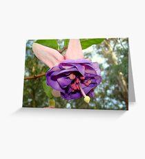 Purple Canopy Greeting Card
