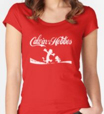 Calvin and Hobbes COKE Women's Fitted Scoop T-Shirt