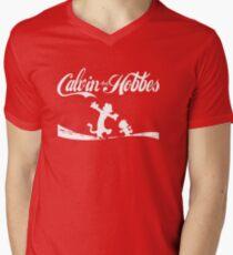 Calvin and Hobbes COKE Men's V-Neck T-Shirt