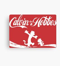 Calvin and Hobbes COKE Canvas Print