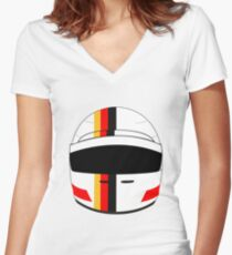 sebastian vettel 2017 helmet Women's Fitted V-Neck T-Shirt