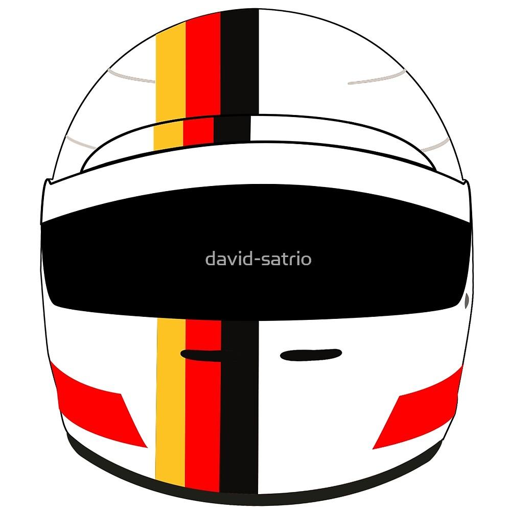 sebastian vettel 2017 helmet by david-satrio