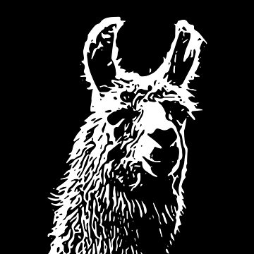 Simple Llama Art by pastaneruda