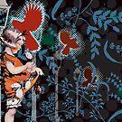 Midnight Rose Picking by David Mueller