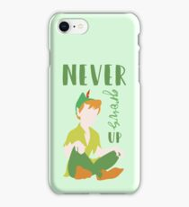 Never Grows Up Peter iPhone Case/Skin