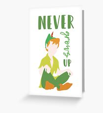 Never Grows Up Peter Greeting Card