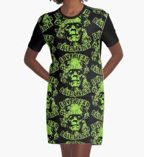 Love Dead Hate Living Green Graphic T-Shirt Dress