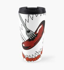 Tribute To The Classic Grange Hill Flying Sausage Travel Mug