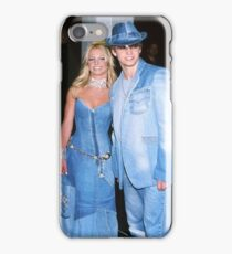 Britney Spears Justin Timberlake Demin Outfit iPhone Case/Skin