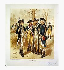 Infantry: Continental Army 1779-1783 by H.A. Ogden (1879) Photographic Print