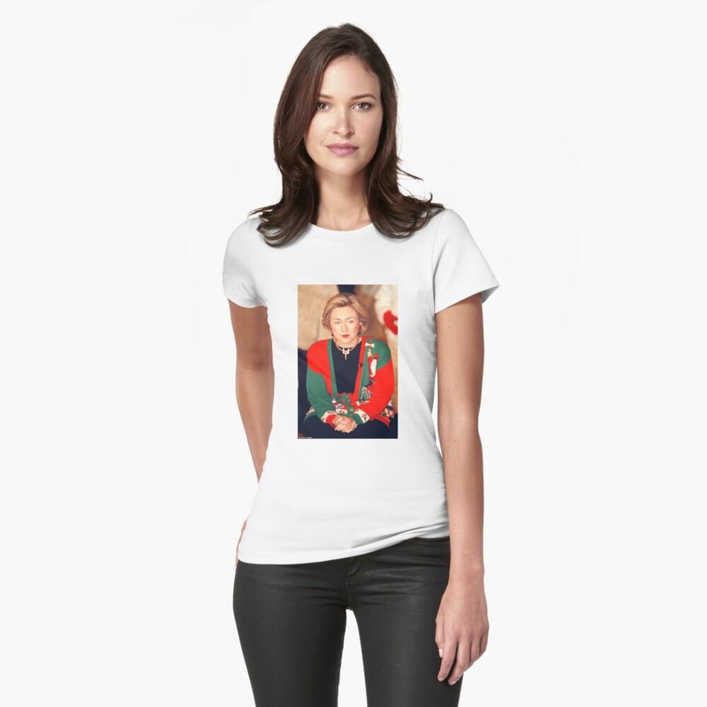 Jersey de Navidad de Hillary Clinton Camiseta entallada