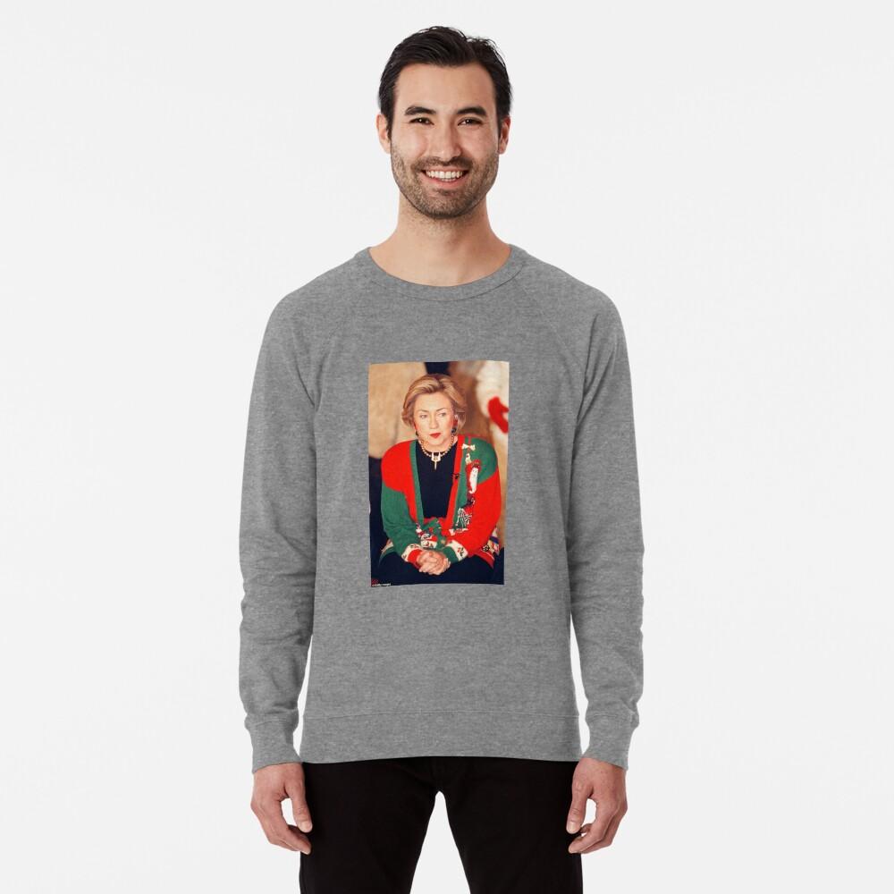 Jersey de Navidad de Hillary Clinton Sudadera ligera