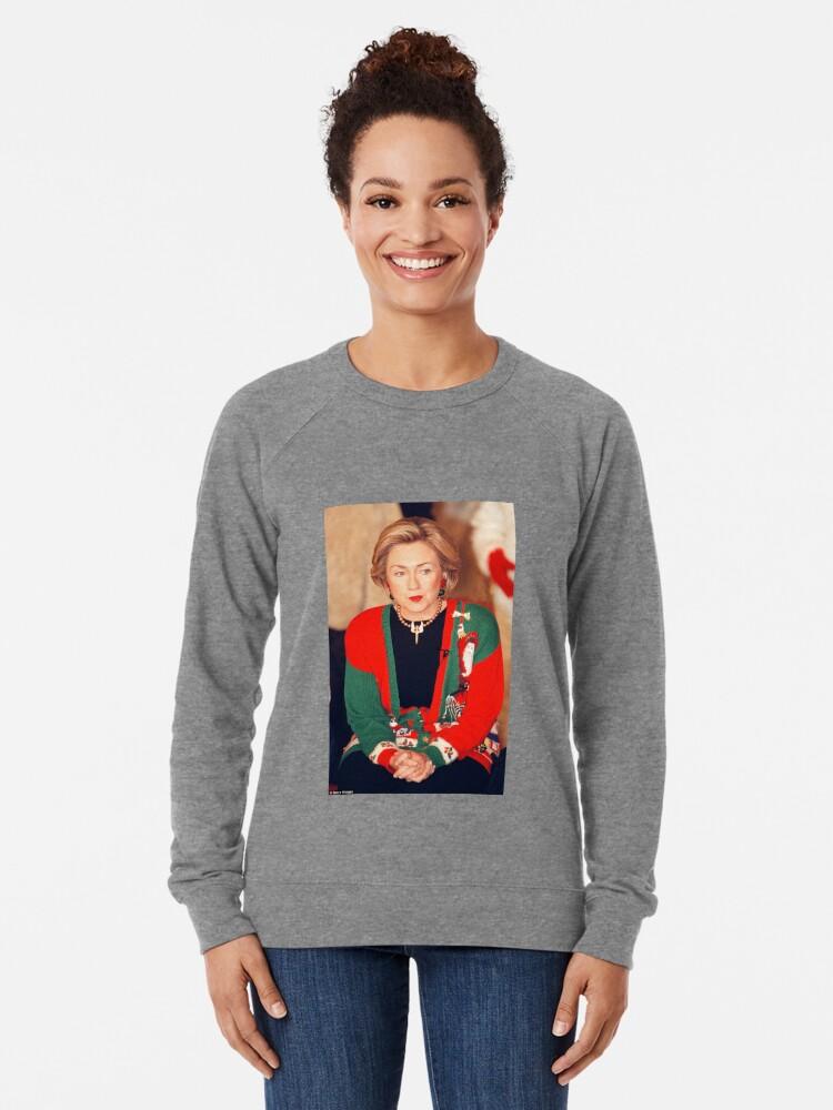 Vista alternativa de Sudadera ligera Jersey de Navidad de Hillary Clinton
