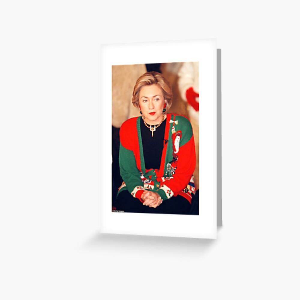 Jersey de Navidad de Hillary Clinton Tarjetas de felicitación