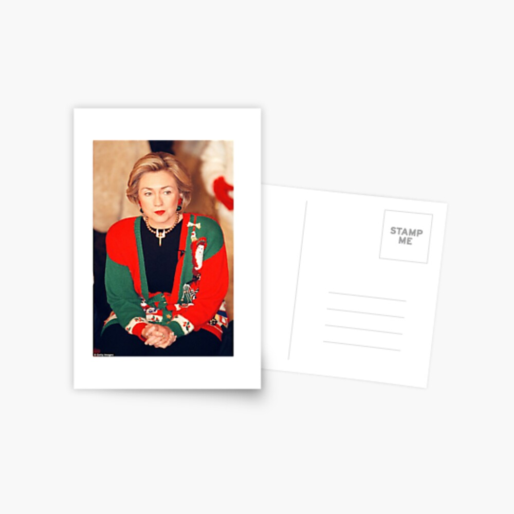 Jersey de Navidad de Hillary Clinton Postal