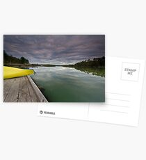 Overcast River Postcards