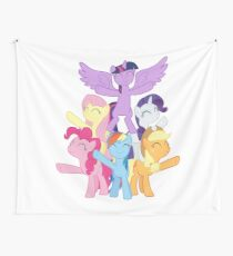 Mane Six finish singing Best Friends Until the End of Time Wall Tapestry